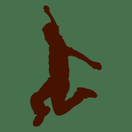 Man jump silhouette Transparent PNG