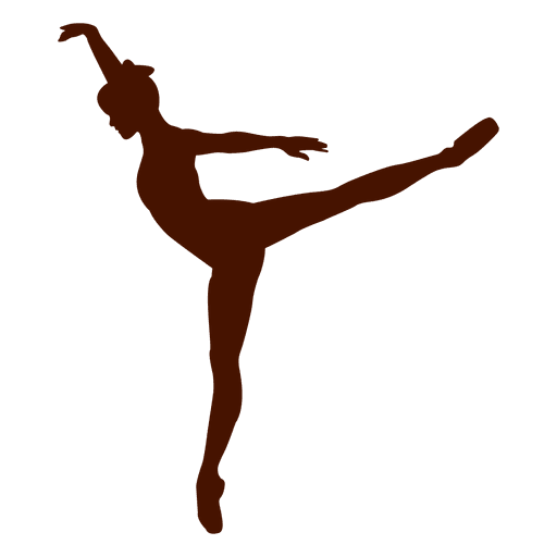Ballet dancer pose dancing silhouette Transparent PNG