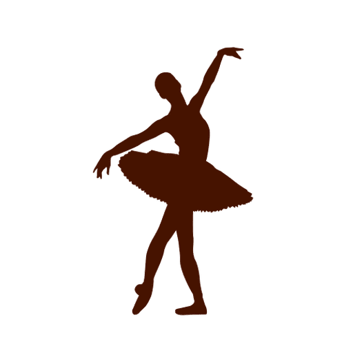 Ballet dancer tutu silhouette Transparent PNG