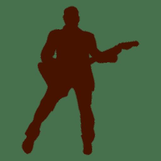 Silueta de músico de música bajo Transparent PNG