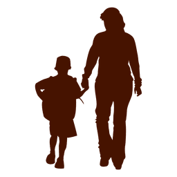 Child mom family silhouette