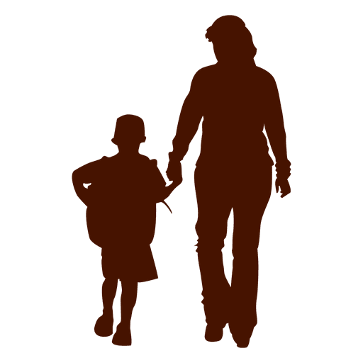 Child mom family silhouette Transparent PNG