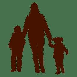 familia chico madre niño