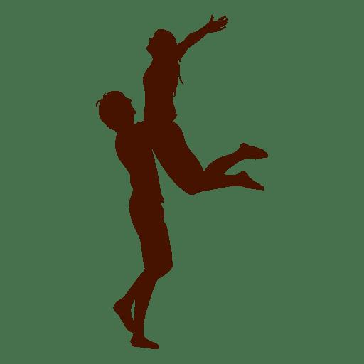 Couple Hug Jump