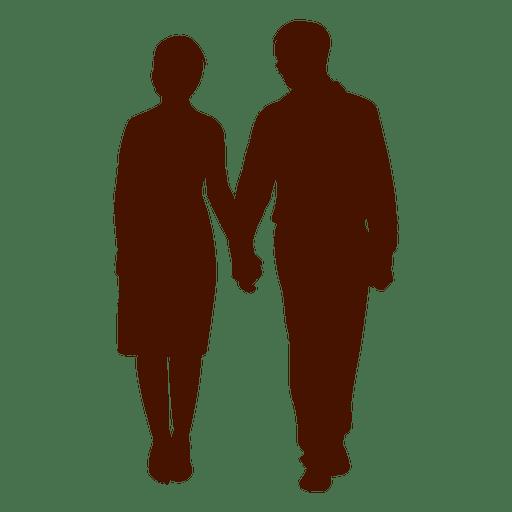 Par, família, waling, silueta Transparent PNG