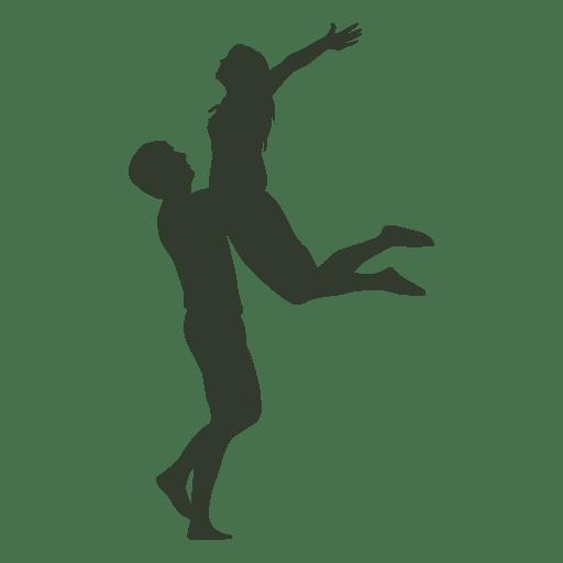 Casal huging silhueta subindo Transparent PNG