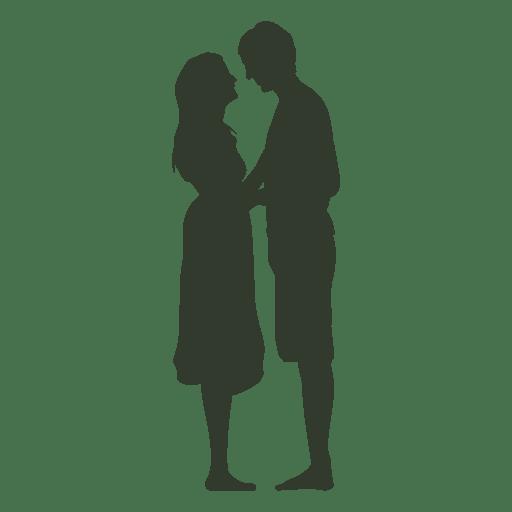Pares que se besan adultos silueta - Descargar PNG/SVG transparente
