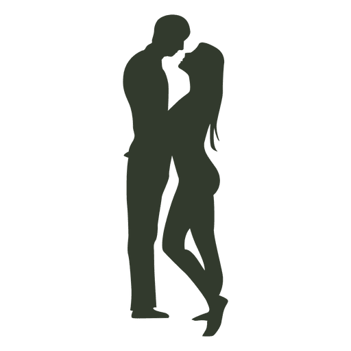 Silhouette couple sexy love