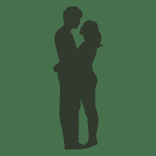 Imagem Casal Png ~ Silhueta do casal se beijando jovem Baixar PNG SVG Transparente