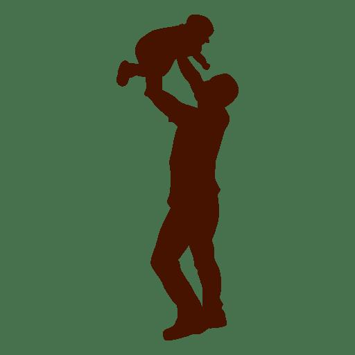Pai, criança, silueta, família Transparent PNG