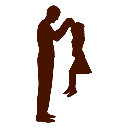 Dad playing with kid family Transparent PNG