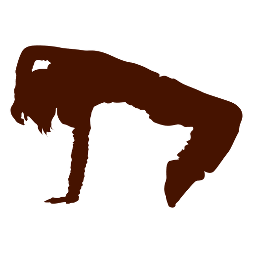 Breakdancer silhouette Transparent PNG