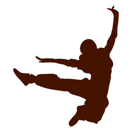 Bailarina break dance silueta 2 Transparent PNG
