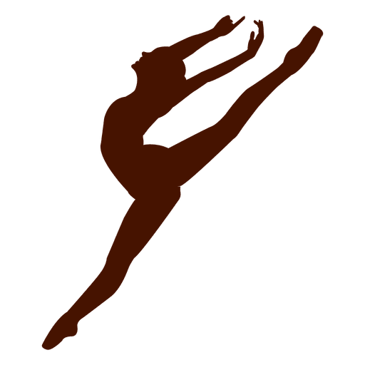 Ballet dancer pose jumping silhouette
