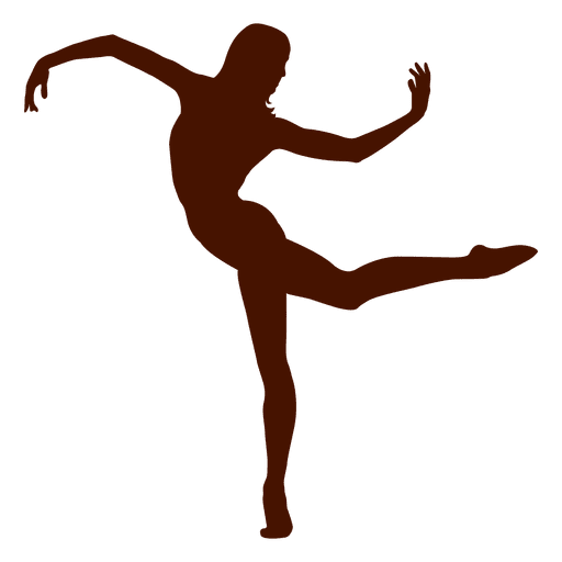 Dancer posing silhouette Transparent PNG
