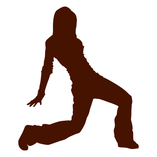 Female dancer break dance silhouette Transparent PNG