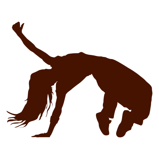 Female dancer break dance silhouette 1 Transparent PNG
