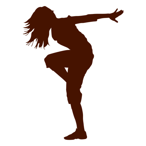 Female dancer break dance silhouette 2 Transparent PNG