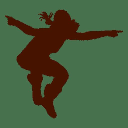 Female dancer break dance silhouette 3 Transparent PNG