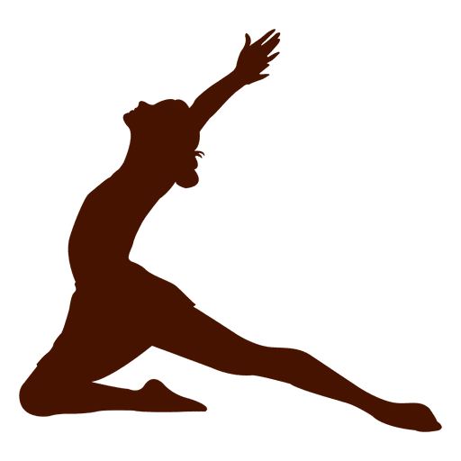 Female dancer silhouette in red