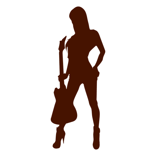 Guitar music musician silhouette