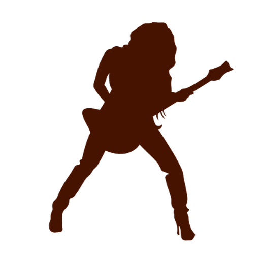 Guitar musician music silhouette Transparent PNG