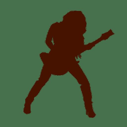Silhueta de música de músico de guitarra Transparent PNG
