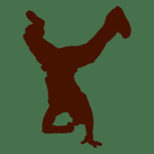 Male dancer break dance silhouette 2 Transparent PNG