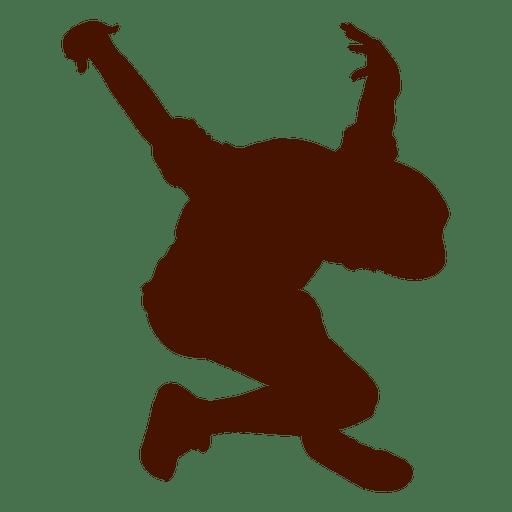 Male dancer break dance silhouette 3 Transparent PNG