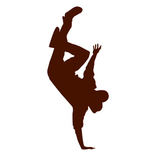 Bailarina masculina break dance silueta 4 Transparent PNG