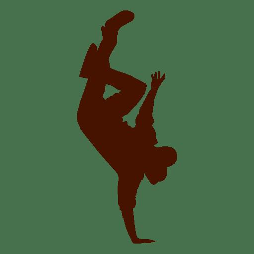 Male dancer break dance silhouette 4