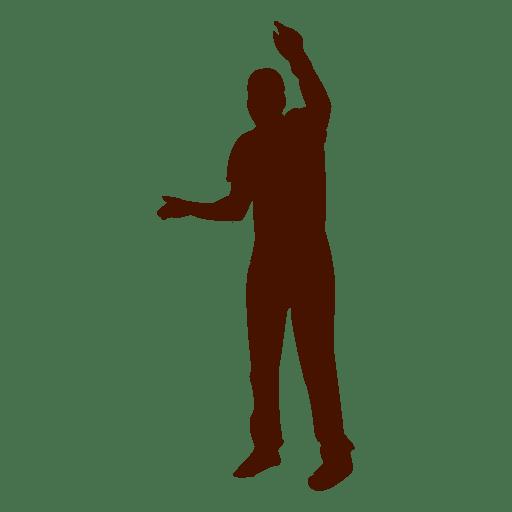 Hombre bailando silueta 10 Transparent PNG