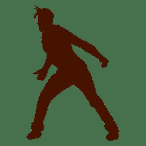 Man dancing silhouette 11 Transparent PNG