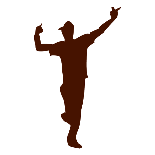 Chico bailando sihouette 3 Transparent PNG