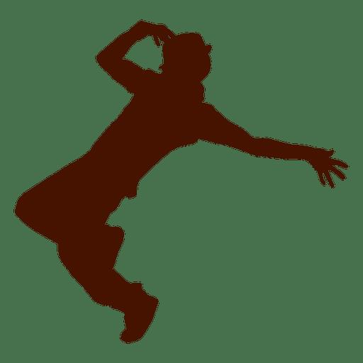 Hombre bailando silueta 6 Transparent PNG