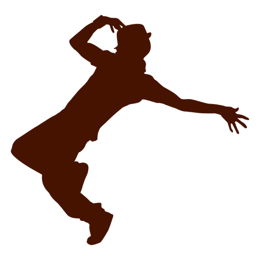 Man dancing silhouette 6 Transparent PNG