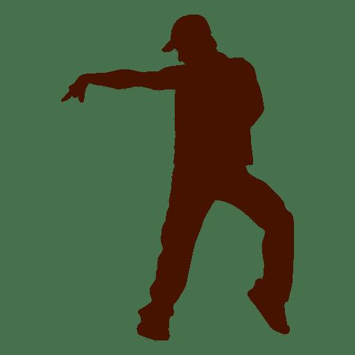 Hombre bailando silueta 8 Transparent PNG