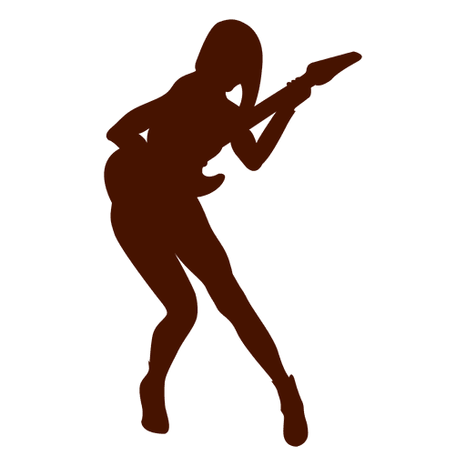 Music guitar musician silhouette in red