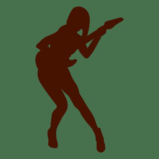 Silhueta de músico violão em vermelho Transparent PNG