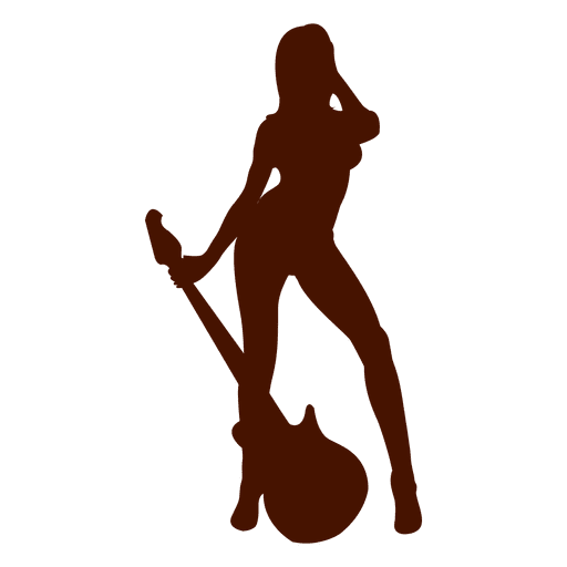 Musician guitar music silhouette Transparent PNG
