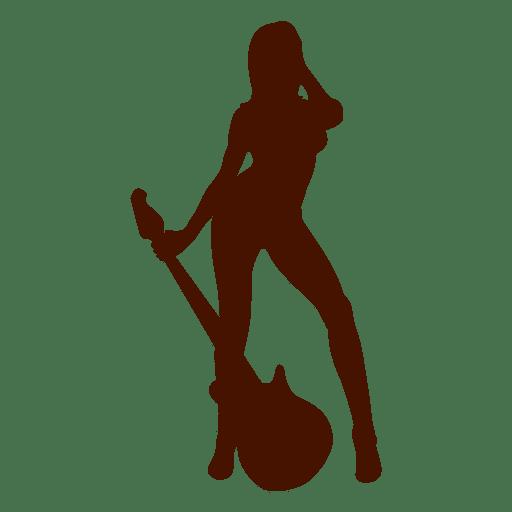 Musician guitar music silhouette