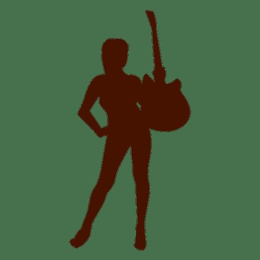 Music guitar musician silhouette - Transparent PNG & SVG ...