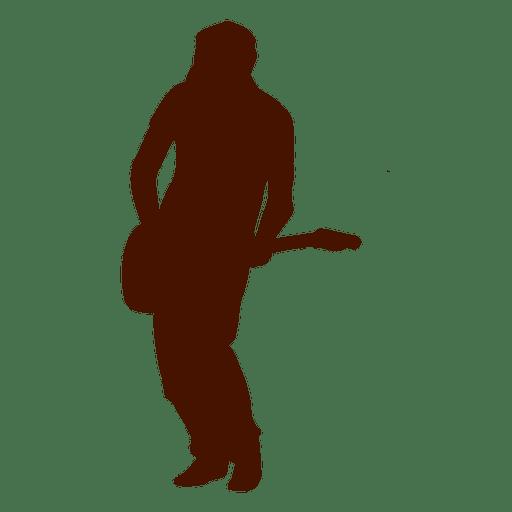 Hombre musica guitarra musico silueta Transparent PNG
