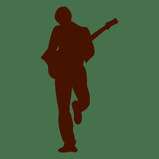 Silhueta de guitarrista de música Transparent PNG