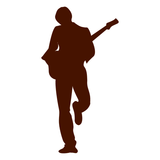 Silueta de guitarrista de musica Transparent PNG
