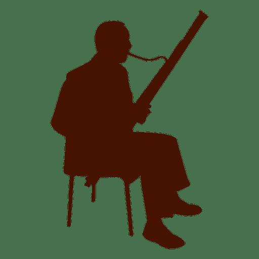 Silhueta de músico instrumento musical Transparent PNG