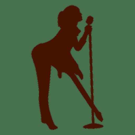 Silhueta de músico cantor músico Transparent PNG