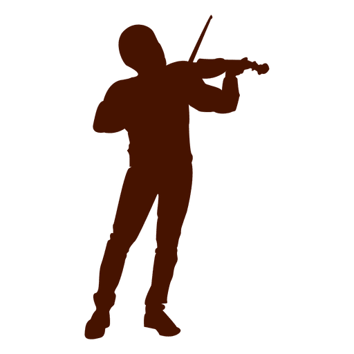 Silhueta de músico de violino musical Transparent PNG
