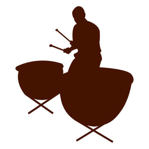 Musician drums music silhouette