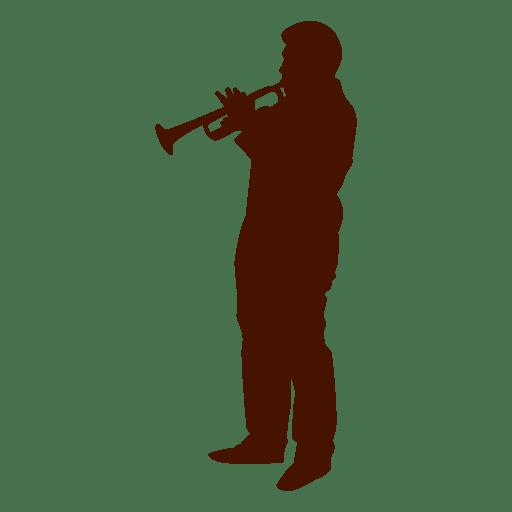 Silhueta de músico instrumento música Transparent PNG